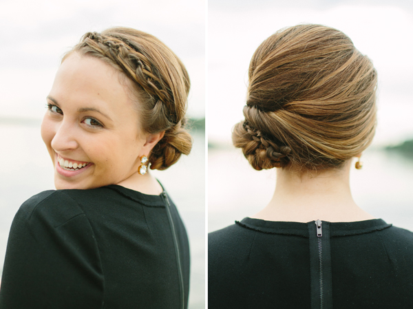Hair Updos For Short Length Hair: Elegant Hairstyles: Braided Updo For Medium Length Hair