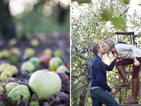 Forge Hill Orchard Engagement by Mary Neumann Photography