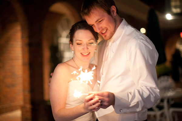 Wedding Sparkler by Katie Nesbitt Photography