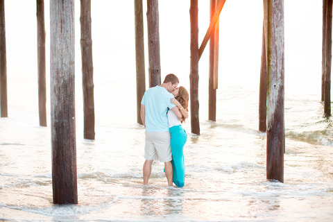 Ocean City Sunrise Engagement by Abby Grace Photography