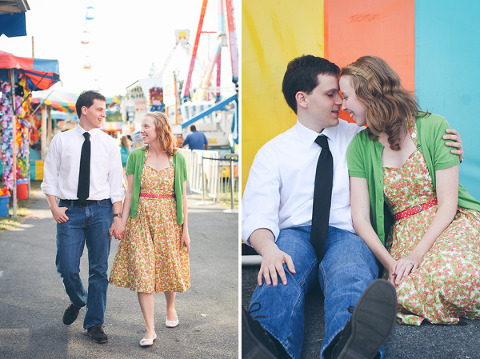 Maryland Carnival Engagement by Photos by Sarah Beth