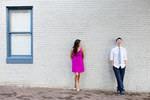 Federal Hill Engagement by Taeck Jang Photography