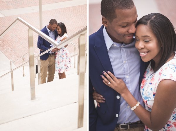 Downtown Baltimore Engagement Photos  || Clapp Studios  || Charm City Wed  ||  www.charmcitywed.com