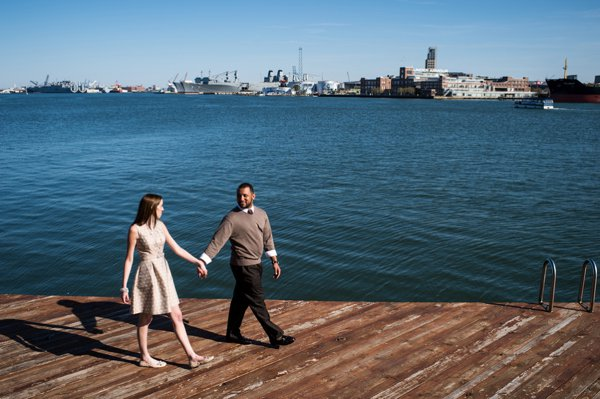 Baltimore Waterfront Engagement Photos  ||  Daniel Moyer Photography  ||  Charm City Wed  || www.charmcitywed.com