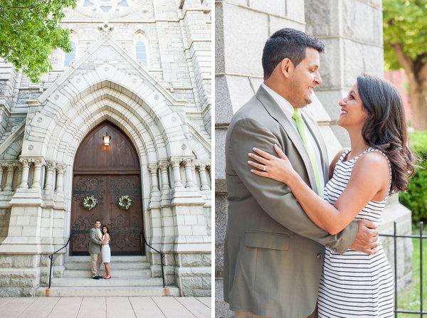 Corpus Christi Church Engagement Photos      Jennifer Smutek Photography     Charm City Wed      www.charmcitywed.com