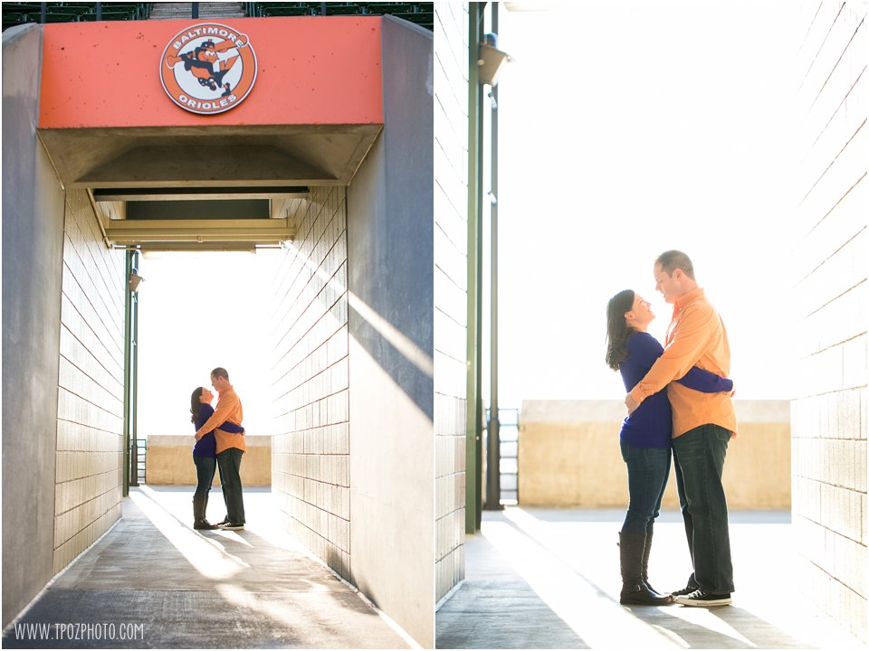 Camden Yards Engagement Session  ||   tPoz Photography  ||  Charm City Wed   ||   www.charmcitywed.com