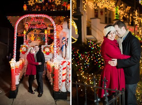 Hampden Holiday Engagement Session      Photography by Brea       Charm City Wed       www.charmcitywed.com