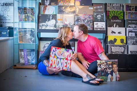 Record Store Romance Engagement Session  ||  K.Rainier Photography   ||   Charm City Wed  ||  www.charmcitywed.com