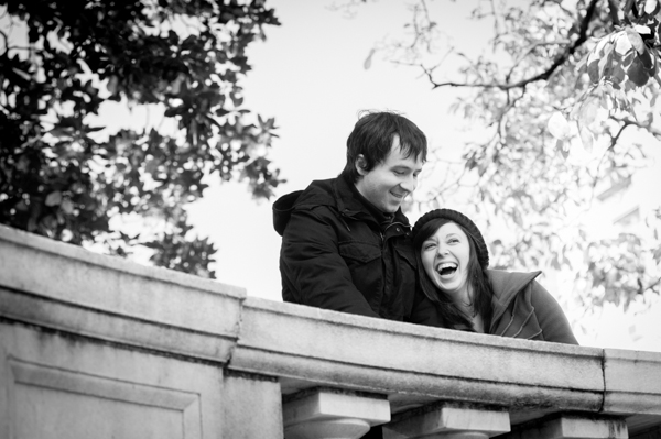 Couple laughing in Mt. Vernon  ||  What to wear for your engagement session  ||  Jennifer Smutek Photography  ||   Charm City Wed  ||   www.charmcitywed.com
