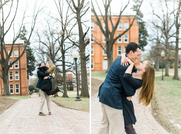 St. John's Campus Engagement Session  ||  Joy Michelle Photography  ||  Charm City Wed  ||   www.charmcitywed.com