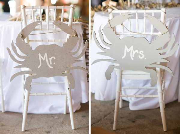 Crab Chair Tags Wedding Reception at Jefferson Patterson Park  ||  tPoz Photography  ||  Charm City Wed  ||  www.charmcitywed.com