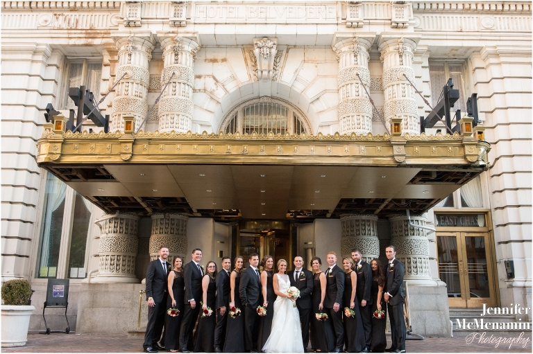 Bridal Party at The Belvedere Wedding in Baltimore