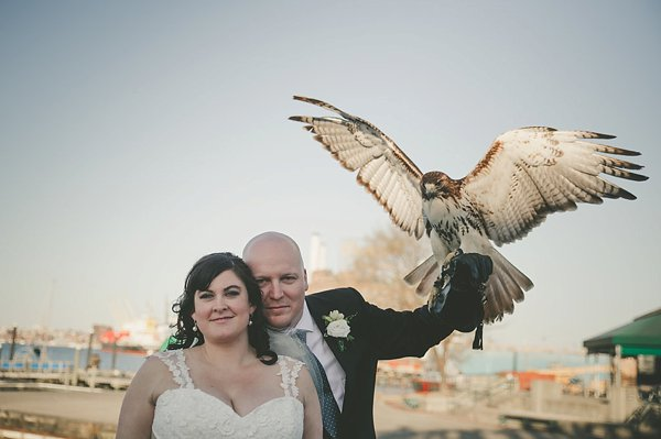Baltimore Museum of Industry Wedding with a hawk  ||   Barbara O Photography  ||  Charm City Wed  ||  www.charmcitywed.com