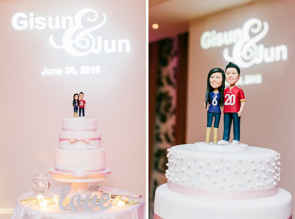 Ravens Redskins Wedding Cake Topper  ||  Anny Photography  ||  Charm City Wed  ||  www.charmcitywed.com