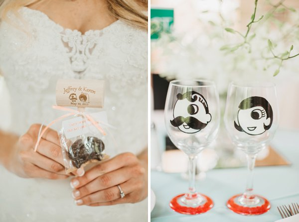 Natty Boh Wine Glasses & crab mallet || L.A. Birdie Photography || Charm City Wed || www.charmcitywed.com