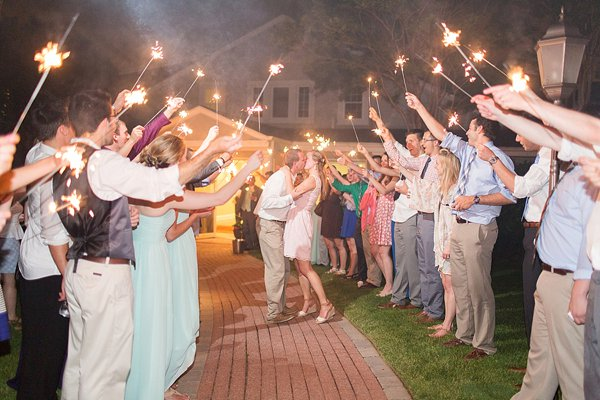 Sparkler Exit Wedding at Country Club of Maryland || Anna Grace Photography || Charm City Wed || www.charmcitywed.com