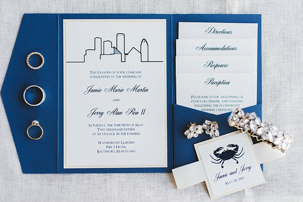 Allison Barnhill Designs Invitations Baltimore    Renee Hollingshead Photography    Charm City Wed    www.charmcitywed.com