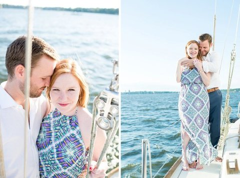 Boating Engagement Session || Hannah Leigh Photography || Charm City Wed || www.charmcitywed.com