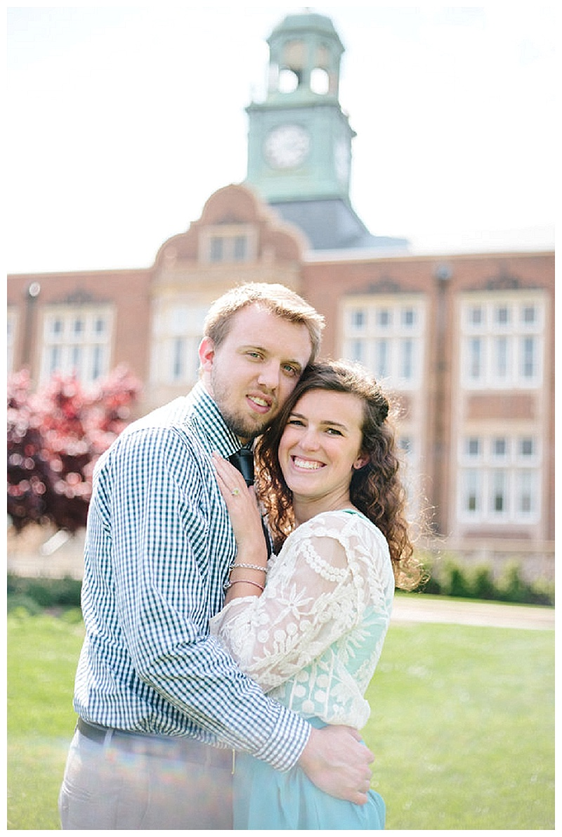 Towson University Engagement Session || Christa Rae Photography || Charm City Wed || www.charmcitywed.com