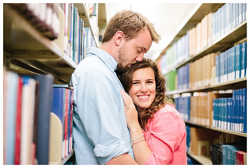Towson University Library Engagement Session || Christa Rae Photography || Charm City Wed || www.charmcitywed.com