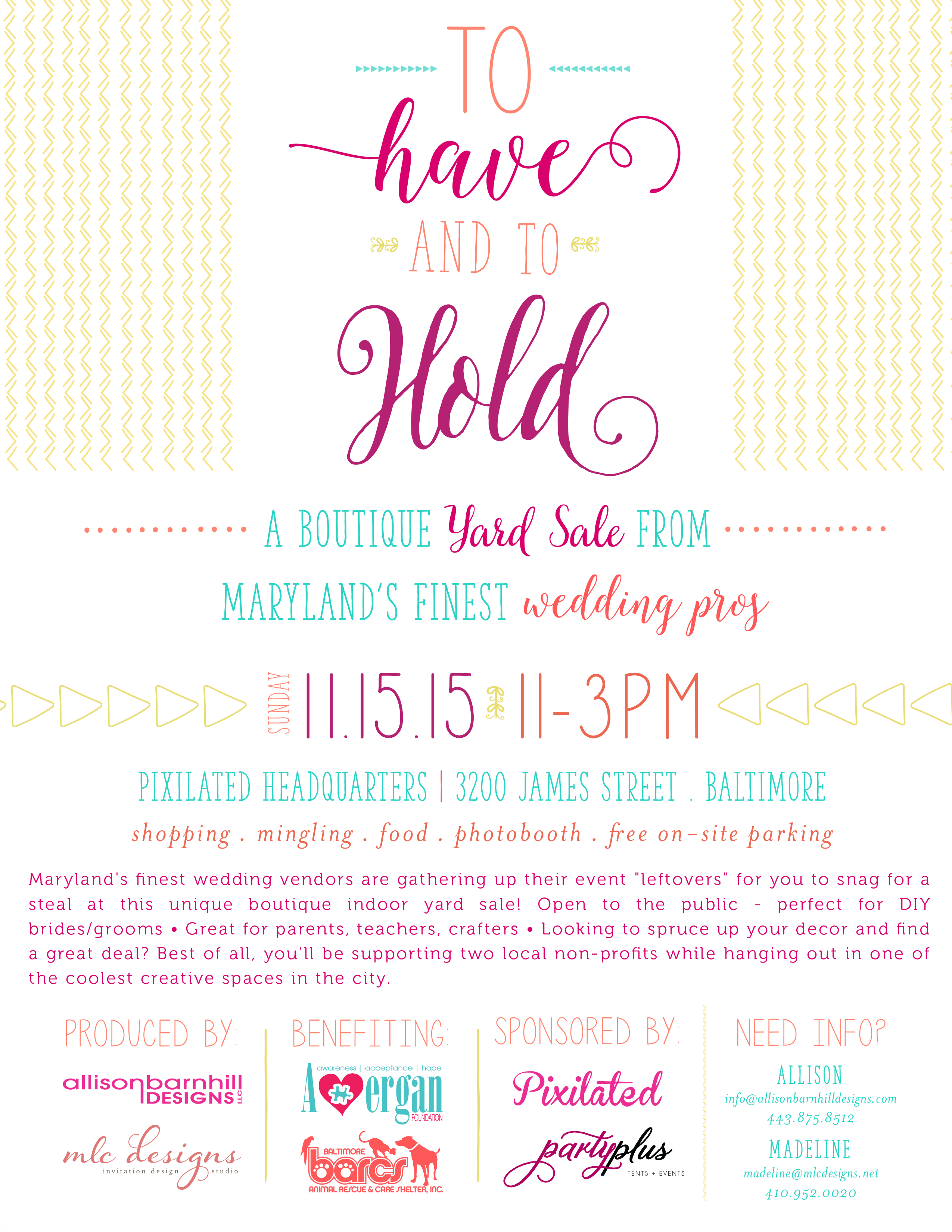 to have and to hold a boutique yard sale charm city wed
