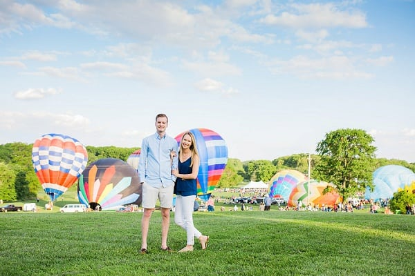 Hot Air Balloon Festival Engagement Session || Lauren E Merrill Photography || Charm City Wed || www.charmcitywed.com