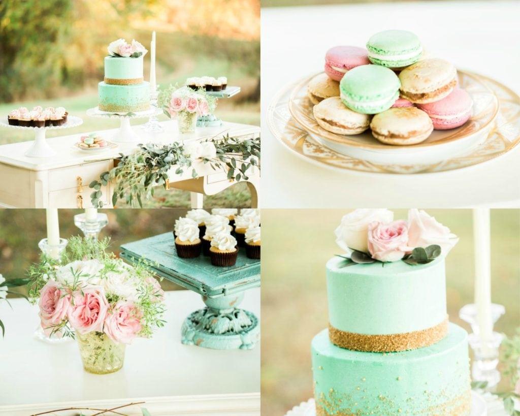 Mint garden wedding collage - alicia wiley photography