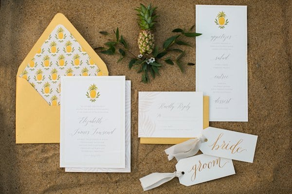 Pineapple Inspiration Chesapeake Bay Beach Club Styled Shoot || Emily Chastain Photography || Charm City Wed || www.charmcitywed.com