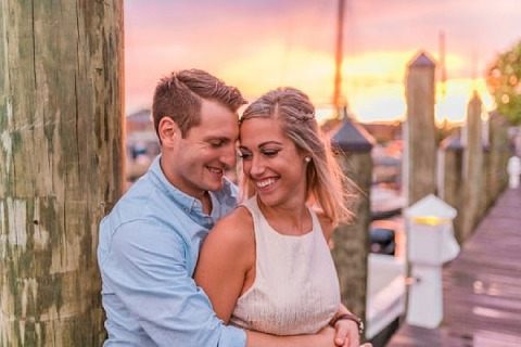 Sunset Engagement Session Nikki Schell Photography Charm City Wed Www