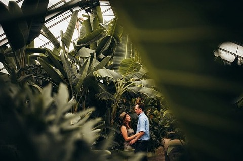 Rawlings Conservatory Engagement || Paula Bartosiewicz Photography || Charm City Wed || www.charmcitywed.com