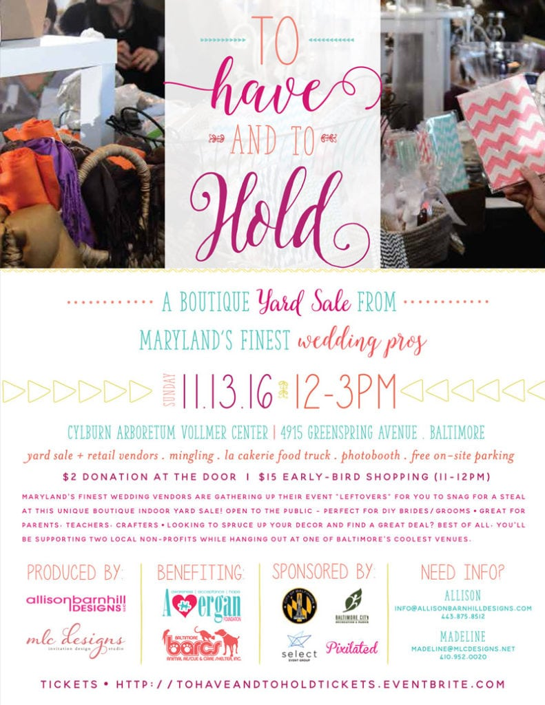 To Have and to Hold - Boutique Wedding Yard Sale
