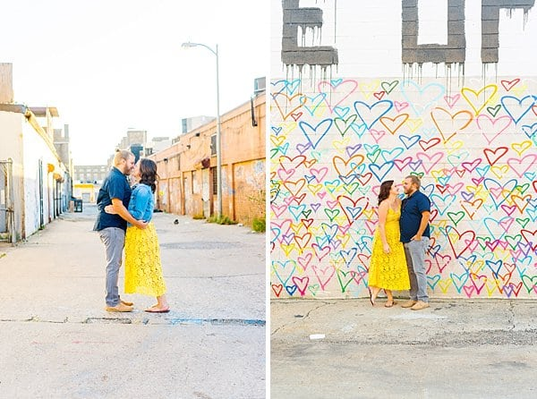Graffiti Wall Engagement Session || Jessica Nazarova Photography || Charm City Wed || www.charmcitywed.com