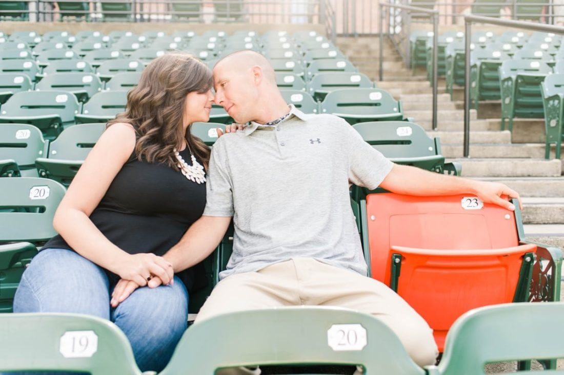 Orioles Opening Day Engagement Photos || Snow Photo by Sarah Mitchell || Charm City Wed || www.charmcitywed.com