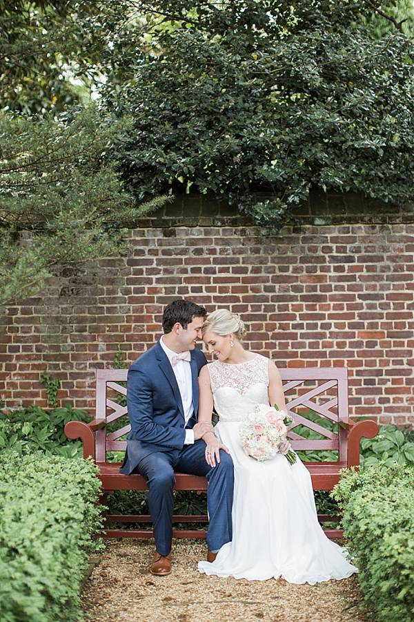Wedding day portrait by Tara & Renata at William Paca House in Annapolis