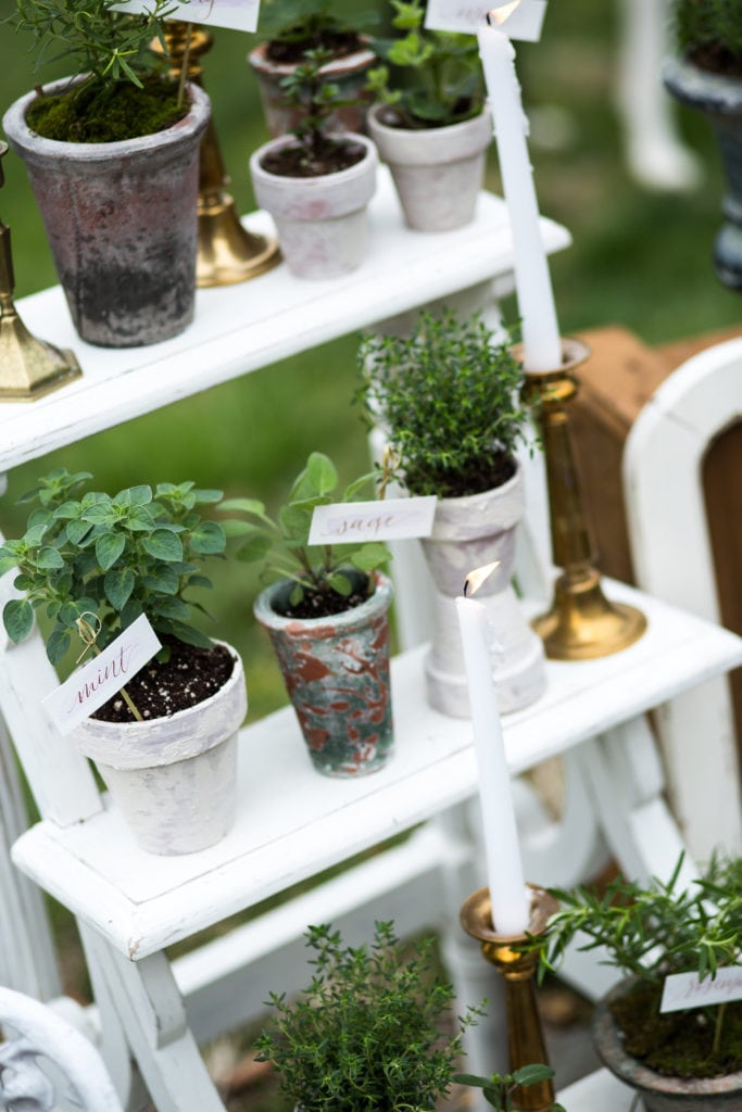 Kimberly Dean Photography l Charm City Wed l Potted Herb Favors